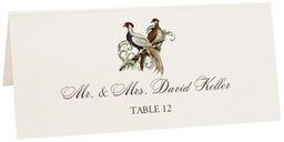 Photograph of Tented Asian Peace Birds Place Cards
