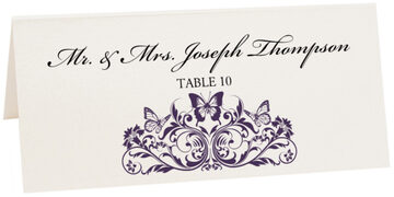 Photograph of Tented Chrysalis Place Cards