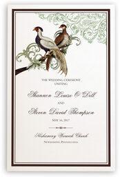 Photograph of Asian Peace Birds Wedding Programs