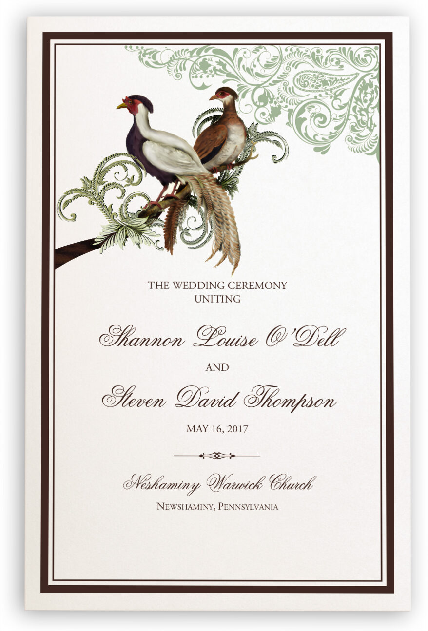 Photograph of Asian Peace Birds Wedding Programs