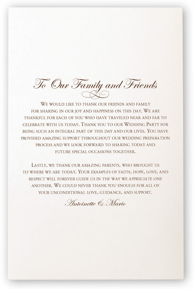 Photograph of Brown Birds Wedding Programs