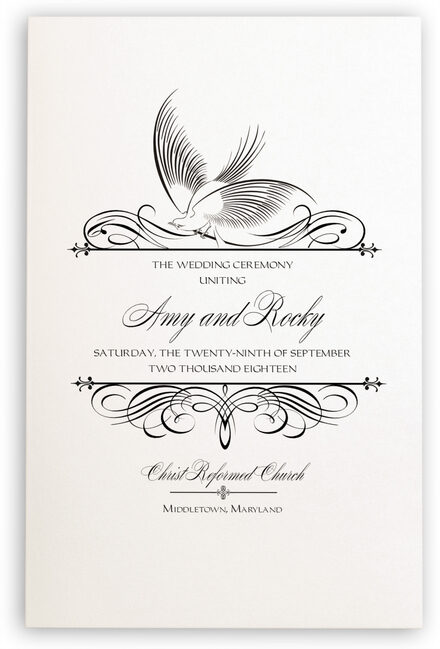 Photograph of Constitution Flourish Birds Wedding Programs