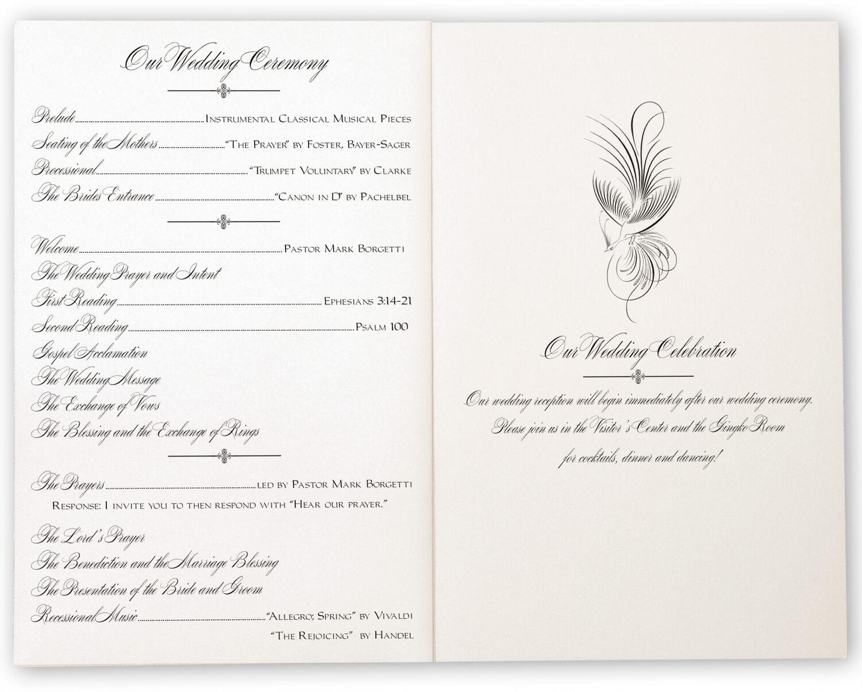 Photograph of Constitution Flourish Birds Wedding Programs
