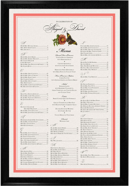 Photograph of Butterflies and Flowers Seating Charts