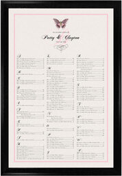 Photograph of Pink Butterfly Seating Charts