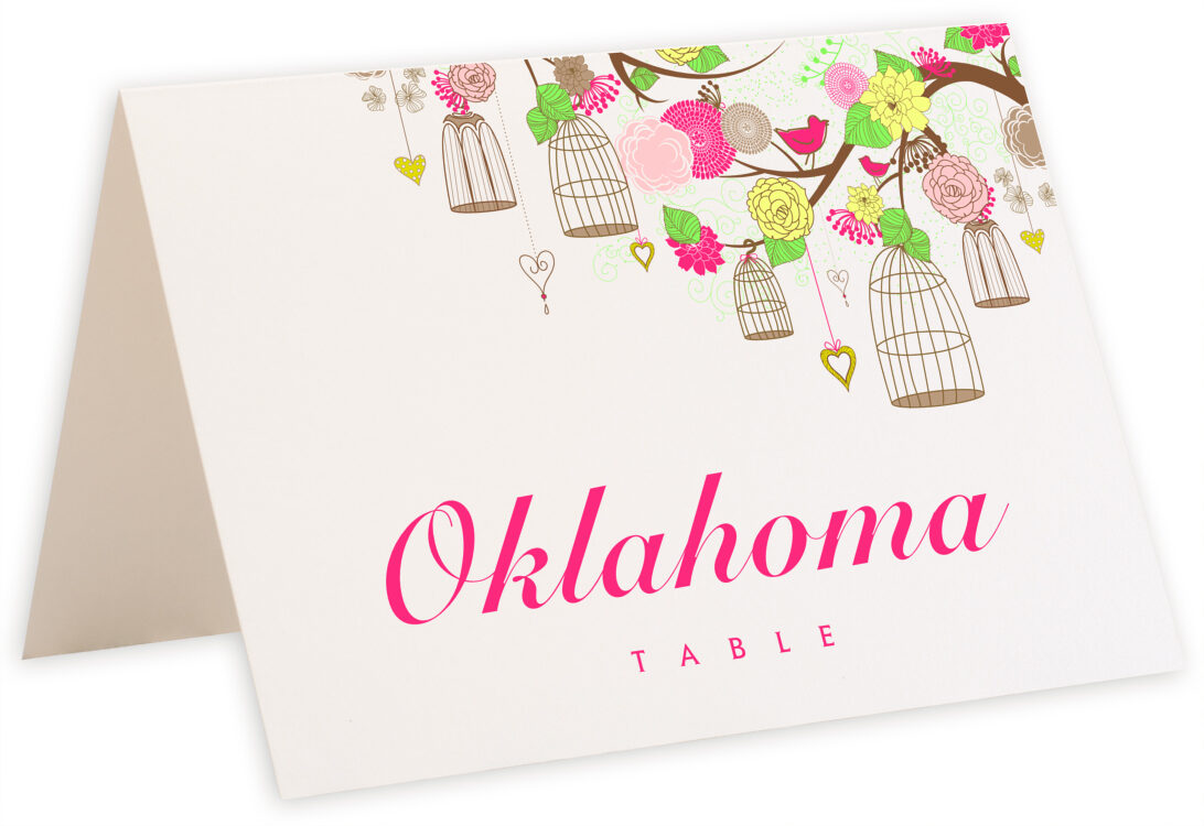 Photograph of Tented Bird Cages Table Names