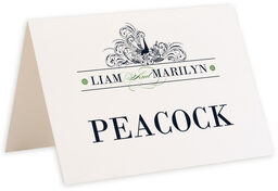 Photograph of Tented Pompous Peacock Table Names
