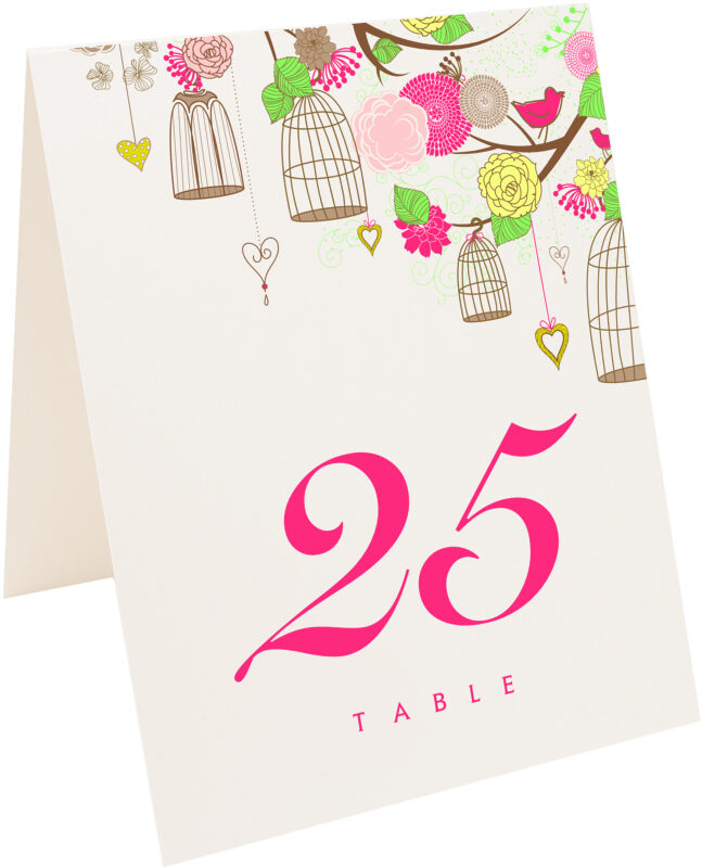 Photograph of Tented Bird Cages Table Numbers