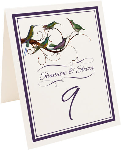 Photograph of Tented Birdz Family Table Numbers
