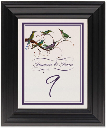 Framed Photograph of Birdz Family Table Numbers
