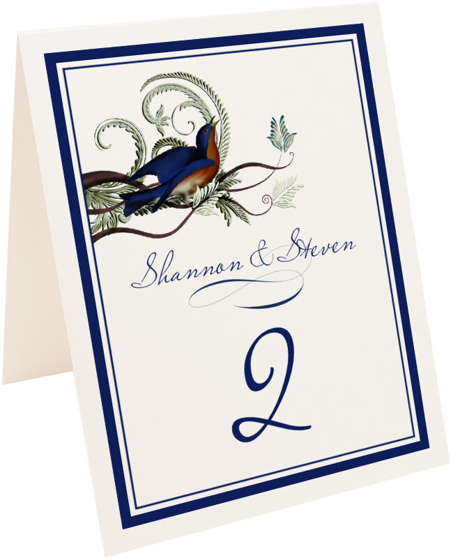 Photograph of Tented Elle Bluebird Table Numbers