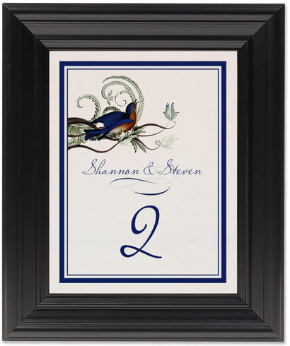 Framed Photograph of Elle Bluebird Table Numbers