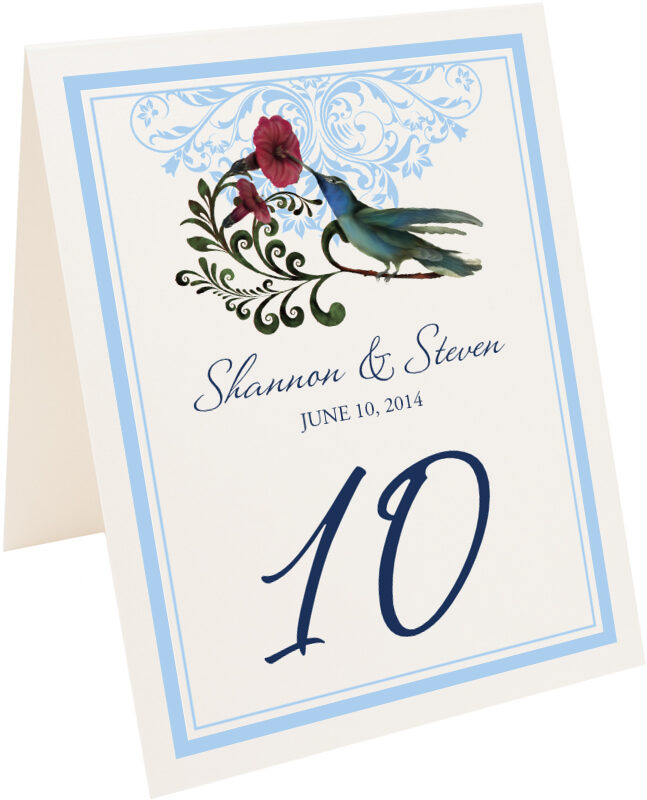 Photograph of Tented Humdilly Flourish Table Numbers