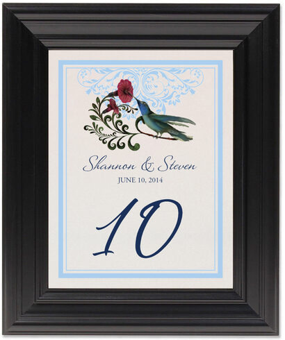 Framed Photograph of Humdilly Flourish Table Numbers