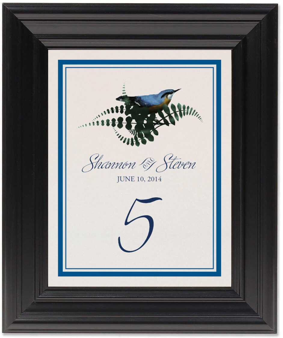 Framed Photograph of Loopie Table Numbers