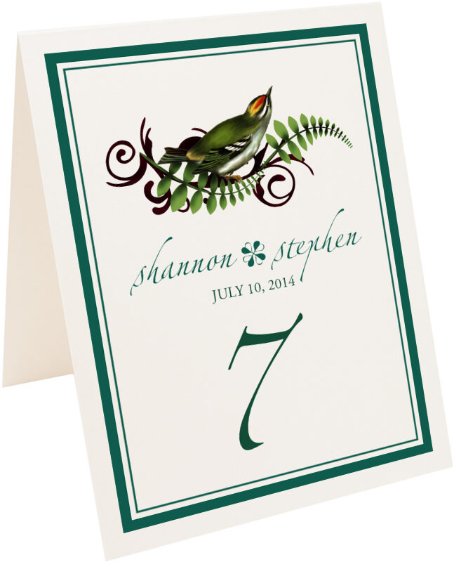 Photograph of Tented Petey Boy Table Numbers