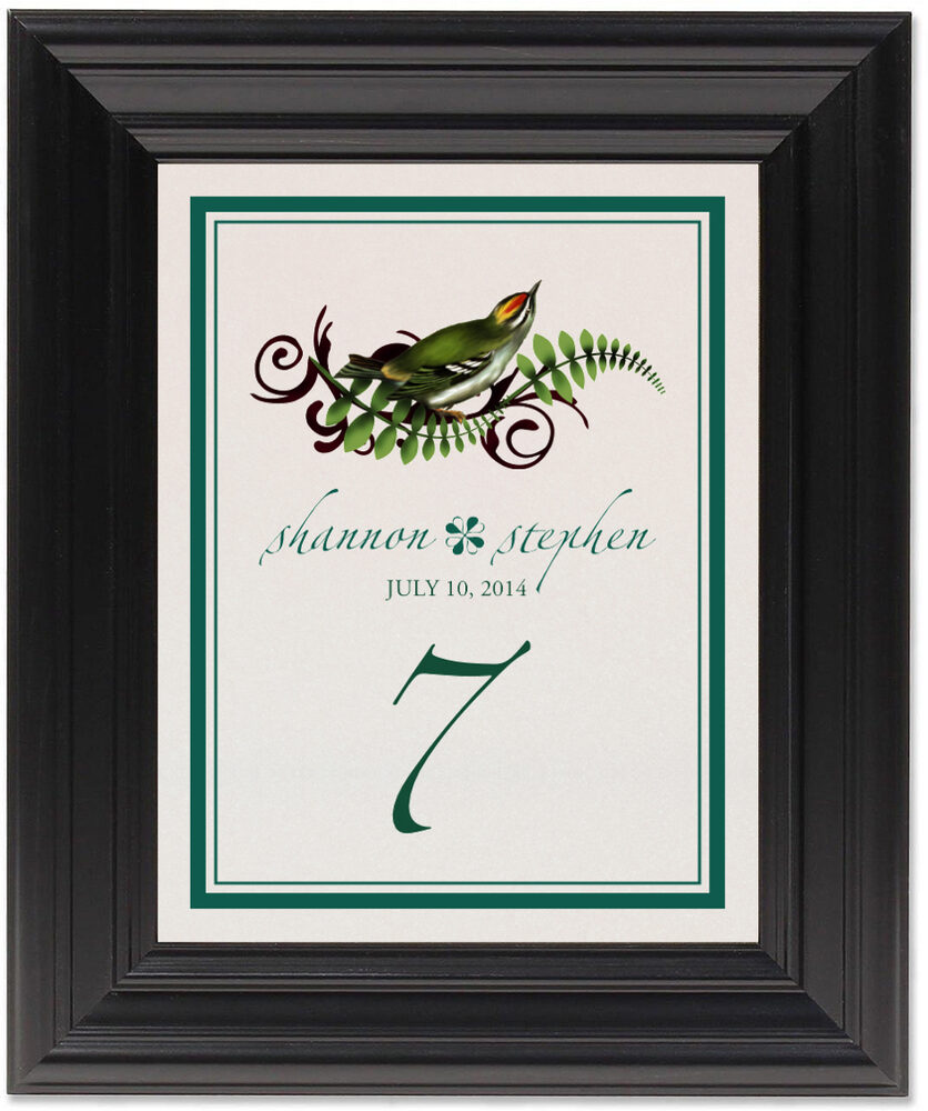 Framed Photograph of Petey Boy Table Numbers