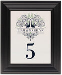 Framed Photograph of Pompous Peacock Table Numbers