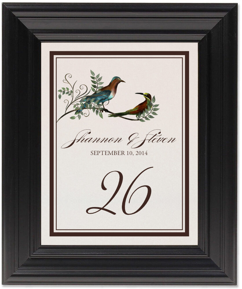 Framed Photograph of Salli and Sammi Table Numbers