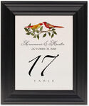 Framed Photograph of Two Red Birds Table Numbers