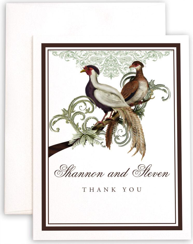 Photograph of Asian Peace Birds Thank You Notes