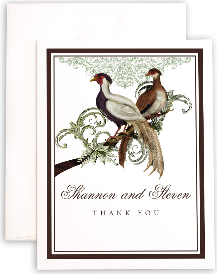 Photograph of Asian Peace Birds Thank You Notes