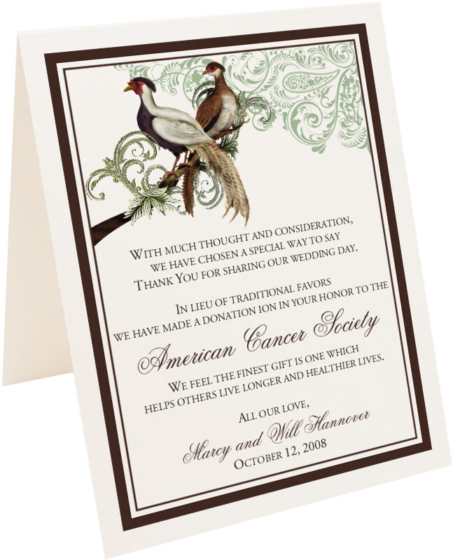 Photograph of Tented Asian Peace Birds Donation Cards