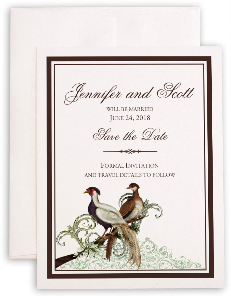 Photograph of Asian Peace Birds Save the Dates