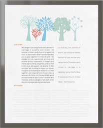 Photograph of Transparent Forest Wedding Certificates