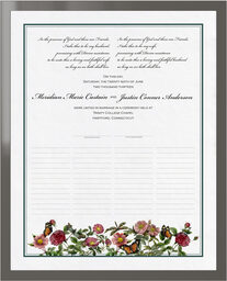 Photograph of Rose Garden Wedding Certificates