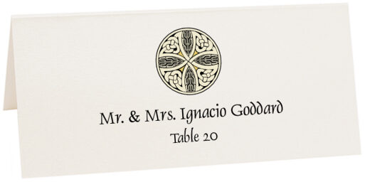 Photograph of Tented Celtic Cross 07 Place Cards