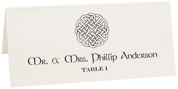 Photograph of Tented Celtic Knot Assortment Place Cards