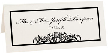 Photograph of Tented Scottish Thistle Place Cards