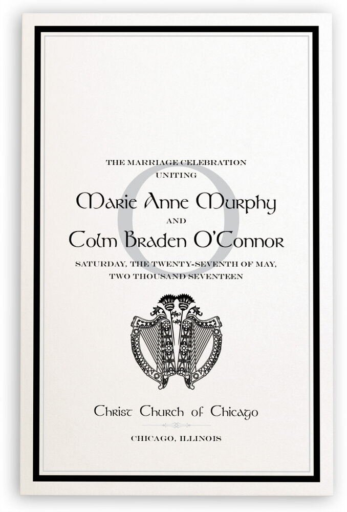 Photograph of Harp and Thistle Wedding Programs