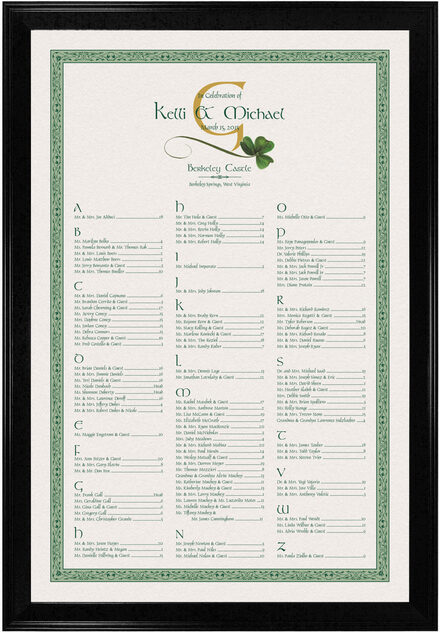 Photograph of Wispy Shamrock Seating Charts