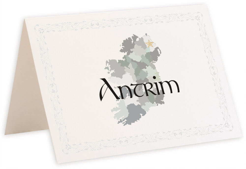 Photograph of Tented Map of Ireland Table Names