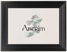 Framed Photograph of Map of Ireland Table Names