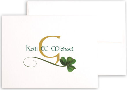 Photograph of Wispy Shamrock Thank You Notes