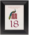 Framed Photograph of Double Happiness Peacock Table Numbers