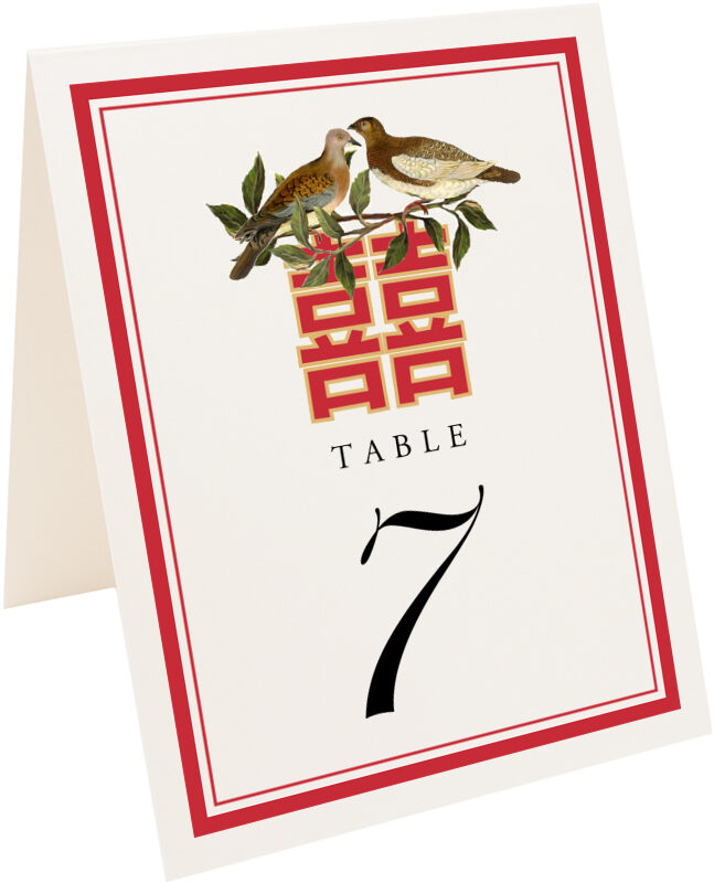 Photograph of Tented Happy Birds Table Numbers