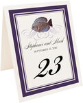 Photograph of Tented Blue Fish Superswirl Table Numbers