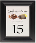 Framed Photograph of Kissing Fish Table Numbers