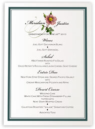 Photograph of Wild Pink Rose Swirl Wedding Menus