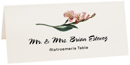 Photograph of Tented Alstroemeria Place Cards