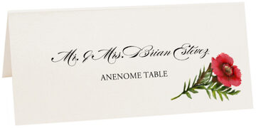 Photograph of Tented Anenome Place Cards