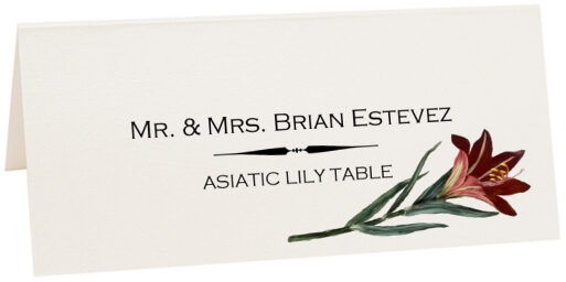 Photograph of Tented Asiatic Lily Place Cards