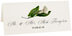 Photograph of Tented Calla Lily Monogram Place Cards