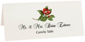 Photograph of Tented Camellia 01 Place Cards