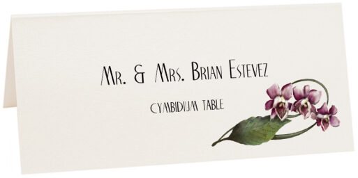 Photograph of Tented Cymbidium Place Cards
