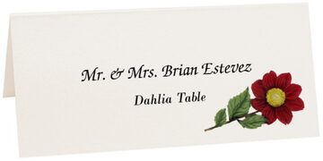 Photograph of Tented Dahlia Place Cards